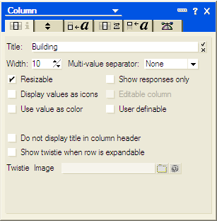 Lotus notes-column properties