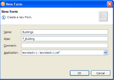 Lotus notes-new form