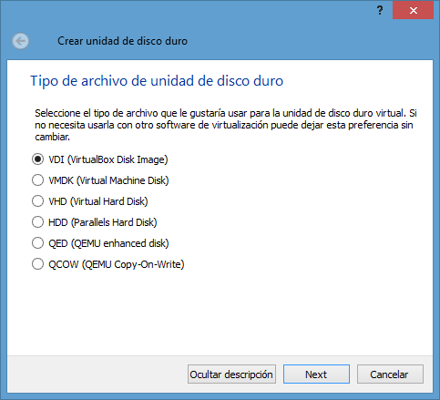 VirtualBox VDI