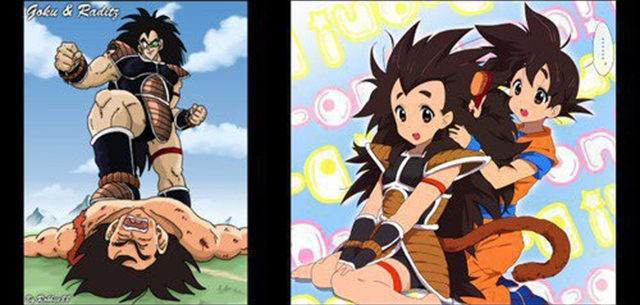 raditz-goku-antes-despues